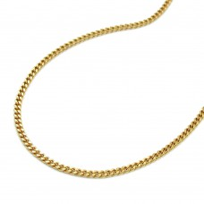 Halskette Goldene Halskette, Kette, Panzerkette 1,1mm breit 38cm, 8Kt GOLD 333