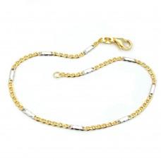 Armband, Stegpanzer, bicolor, 9Kt GOLD
