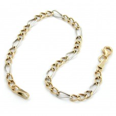 Armband Figaro Panzer bicolor, 9Kt GOLD