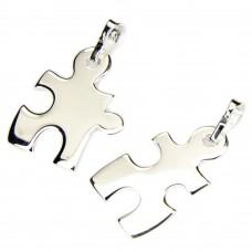 Anhänger, Freundschaftsanhänger Puzzle -Teile getrennt, Silber 925