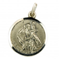 Anhänger, Talisman, Christophorus antik Silber 925