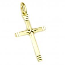 Anhänger Kreuz diamantiert, 8Kt GOLD