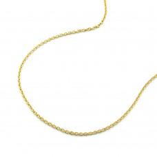 Kette, 45cm, Ankerkette rund, 9Kt GOLD