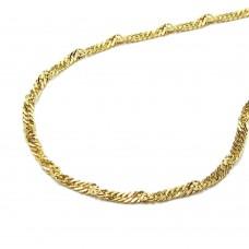 Halskette, Kette 1,4mm Singapurkette, 333 8Kt GOLD 40cm