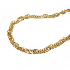 Kette, 42cm, Singapurkette, 9Kt GOLD