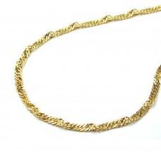 Kette, Singapurkette 42cm, 14Kt GOLD