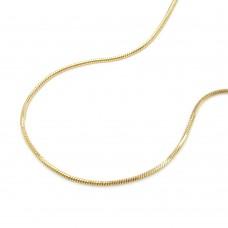 Kette, Schlange, 38cm, 5-kant, 14Kt GOLD