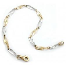 Armband, Fantasie bicolor, 9Kt GOLD