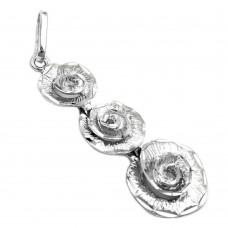 Anhänger 3 Blumen rhodiniert, Silber 925