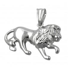 Anhänger, Löwe rhodiniert, Silber 925