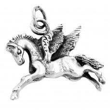 Anhänger, Pferd mit Flügeln, Silber 925