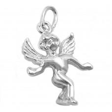 Anhänger mit Kette, hübscher körperlicher Engel, Silber 925
