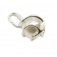 Anhänger, Perle Wachsperle weiß, Silber 925