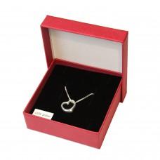Geschenkset Anhänger Herz, Herzanhänger mit Kette und Geschenkbox, Silber 925