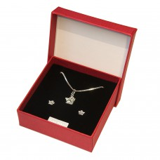 Geschenkset Anhänger + Kette + Ohrstecker kleiner Engel Silber 925